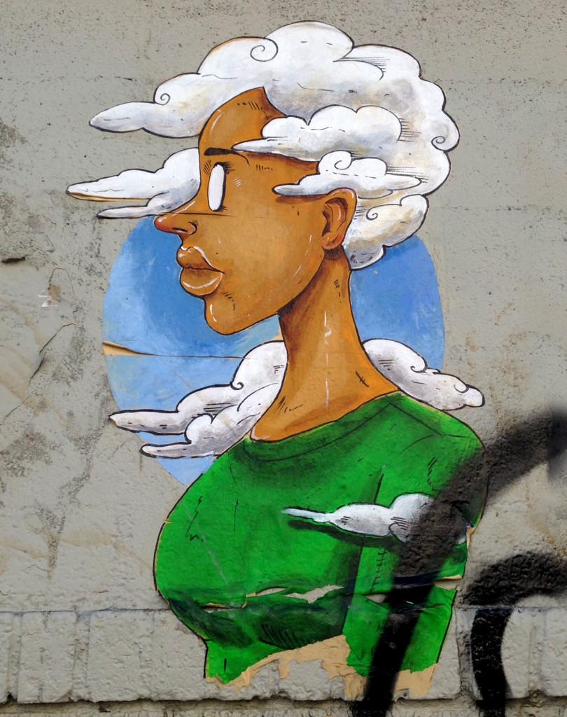 streetartlosangelesheadintheclouds