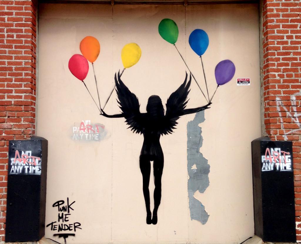 streetartlosangelespunkmetenderrainbow