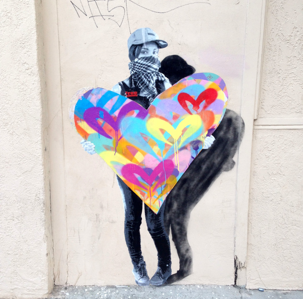 streetartfreehumanityheartvalentine