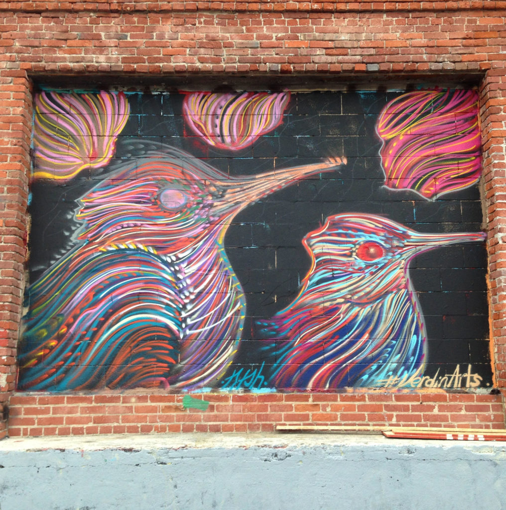 street art los angeles dtla birds @verdinarts